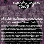 [9septiembre] Charla: Violencias machistas en los movimientos sociales