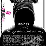 [22sept – 18h] Charla: La vida administrada: progreso tecnológico, libertad y autonomía